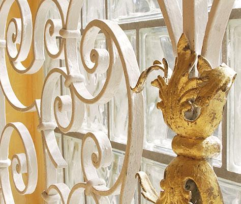 Treppengitter Gold